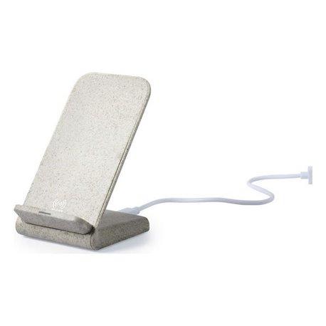 Caricabatterie Senza Fili Smartphone Qi 146537 Paglia di grano Abs Naturale