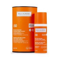 Anti-Sonnenfleckenfluid Protect-adapt System Bella Aurora SPF 50+ (50 ml)