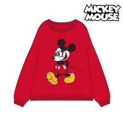 Felpa senza Cappuccio Donna Mickey Mouse 74875 Rosso M
