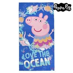 Telo da Mare Peppa Pig 75502 Microfibra Blu marino