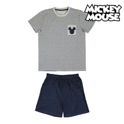 Pigiama Estivo Mickey Mouse Grigio Adulti XXL