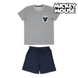 Pigiama Estivo Mickey Mouse Grigio Adulti XL