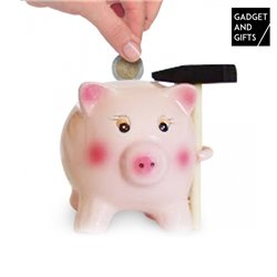 Ceramic Pig Savings Bank with Hammer