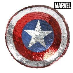 Cuscino Sirena Magica con Paillettes The Avengers 74488 Azzurro (30 X 30 cm)