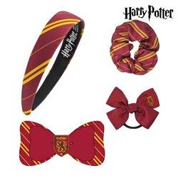 Accessori per i Capelli Griffindor Harry Potter Rosso granato (4 Pcs)
