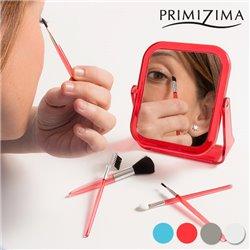 Specchio con Pennelli per il Trucco Primizima (6 pezzi) Trasparente