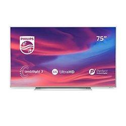 "Smart TV Philips 75PUS7354 75"" 4K Ultra HD LED WiFi Ambilight Argentato"