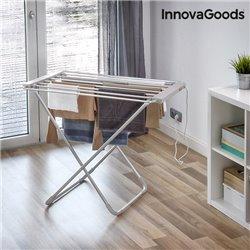 InnovaGoods Home Houseware zusammenklappbarer elektrischer Wäscheständer, 1000W, grau (6 Stangen)