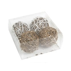 Bolas de Natal Branco Ouro (4 pcs) by Christmas Planet