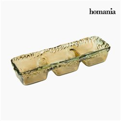 Tafelaufsatz aus recyceltem Glas Bernstein - Crystal Colours Deco Kollektion by Homania