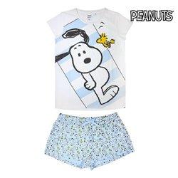 Pigiama Estivo Snoopy Adulto Blu cielo Bianco S