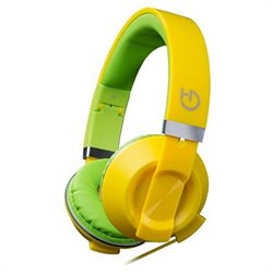 Hiditec COOL KIDS Conjunto de auscultadores e microfone acoplado Fita de cabeça Verde, Amarelo WHP010006