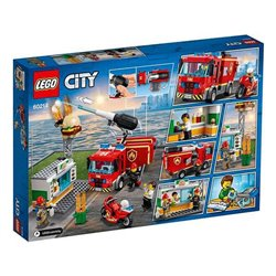 Playset City Fire At The Burguer Restaurant Lego 60214