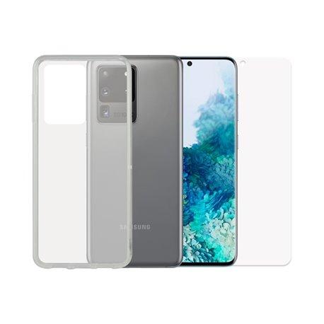 Protettore Schermo Vetro Temprato per Cellulare + Custodia per Cellulare Samsung Galaxy S20 Ultra Contact
