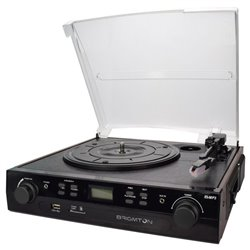 Giradischi + Registratore di Cassette BRIGMTON BTC-406REC USB SD / MMC