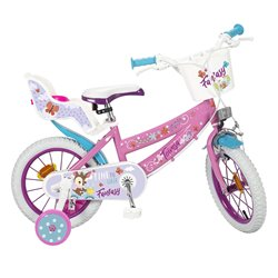 """Bicicletta per bambini Toimsa Fantasy Walk 12"""" Rosa Bianco"""