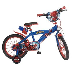 """Bicicletta per bambini Spiderman 16"""" Azzurro"""