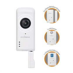 Edimax Caméra IP + Capteurs IC-5170SC (H/V/D): 180° / 142° / 206° Zoom 4x Wifi