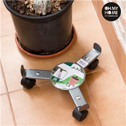 Oh My Home Metal Plant Stand with Wheels