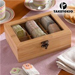 TakeTokio Bamboo Tea Storage Box