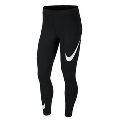 Leggings Sportivo da Donna Nike NSW LEGASEE LGGNG SWOOSH Nero S