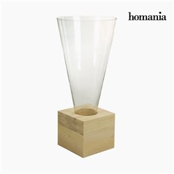 Vaso Vidro Madeira - Pure Crystal Deco Coleção by Homania