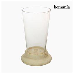 Vase Verre Bois - Collection Pure Crystal Deco by Homania