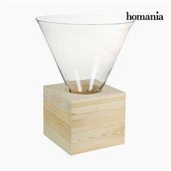 Centro de mesa Vidro Madeira - Pure Crystal Deco Coleção by Homania