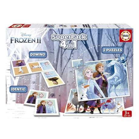Set da 4 giochi Frozen Educa