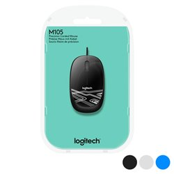 Mouse Ottico Mouse Ottico Logitech M105 1000 dpi USB Azzurro