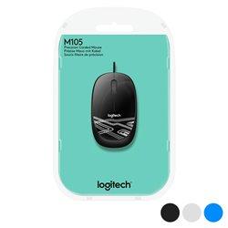 Mouse Ottico Mouse Ottico Logitech M105 1000 dpi USB Nero