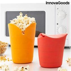Contenitori per Pop-corn Pieghevoli in Silicone Popbox InnovaGoods (Pacco da 2)
