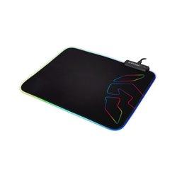 Tappetino Gaming con Illuminazione LED Krom Knout RGB (32 x 27 x 0,3 cm) Nero