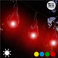 Lampadina Solare (confezione da 4) Rosso