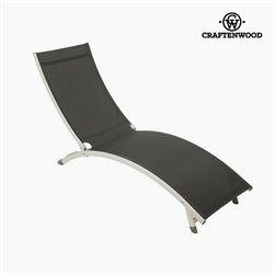 Sun-lounger (180 x 55 x 25 cm) Aluminium Grau by Craftenwood