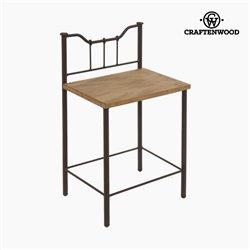 Mesa de Cabeceira Madeira Forja Preto - Perfect Coleção by Craftenwood