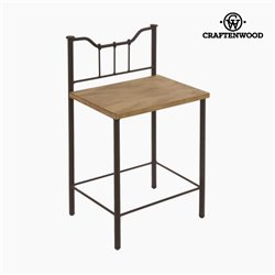 Nightstand Wood Ironwork Black - Perfect Collection by Craftenwood