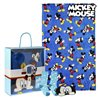 Coperta, Calzini e Mascherina Mickey Mouse 73376 (3 Pcs) Azzurro