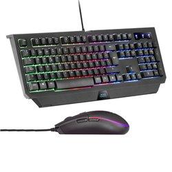 Tastiera e Mouse Gaming Mars Gaming MCP100ES RGB USB Nero