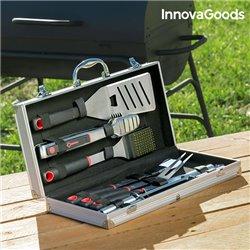 InnovaGoods Mallette Professionnelle d'Ustensiles de Barbecue (11 pièces)