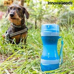 Bottiglia con Contenitore per Acqua e Cibo per Animali Domestici 2 in 1 Pettap InnovaGoods