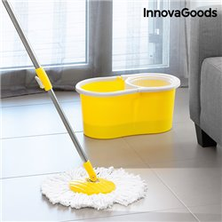 InnovaGoods Double-Action Spinning Mop with Bucket