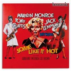 Locandina Marilyn Monroe A qualcuno piace Caldo Homania