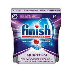 Pasticche per Lavastoviglie Finish Quantum (64 Unità)