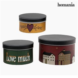 Scatola Decorativa Homania 2687 (3 pcs) Rotundă