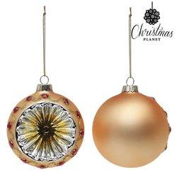 Palle di Natale Christmas Planet 1730 8 cm (2 uds) Geam Dorato