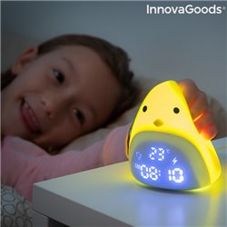 Sveglia LED Touch Ricaricabile in Silicone Chick InnovaGoods