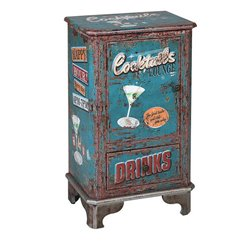 Tavolo Aggiuntivo Cocktails 116268 Rétro Azzurro (75 X 44 x 30 cm)
