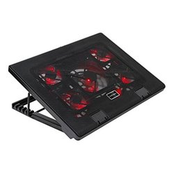 """Base di Raffreddamento Gaming per PC Portatile Tacens AAOARE0123 MNBC2 2 x USB 2.0 20 dBA 17"""" Nero"""