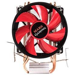 Mars Gaming MCPU117 ventilador de PC Procesador Enfriador 9 cm Negro, Metálico, Rojo